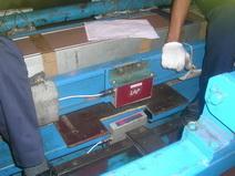 Loaning sample at customer site.