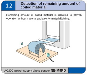 Detection of remaining amount of colled meterial