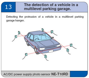 The detection of a vehicle in a multilevel parking garage