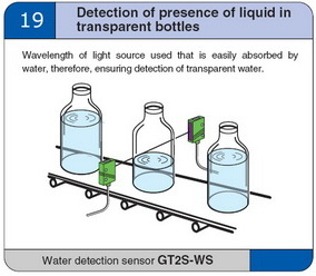 Detection of presence of liquid in transparent bottles