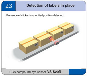 detection of labels in place