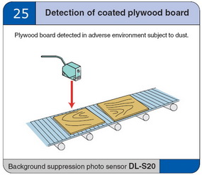 Detection of coated plywood board