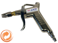 Metal, Hand Control Air Gun With Hurricane Aluminum Air Saver Force Nozzle, 1/4 in. NPTF Air Connection